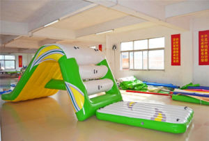 Cheap Price Floating Inflatable Water Park Slide with Climbing Stairs pictures & photos