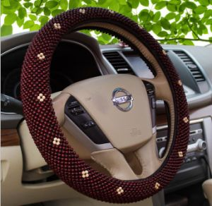 Cool Luxurious Wood Bead Car Steering Wheel Cover Sleeve pictures & photos