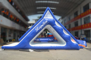 Colorful Inflatable Floating Water Slide with Climbing Wall (CHW453) pictures & photos