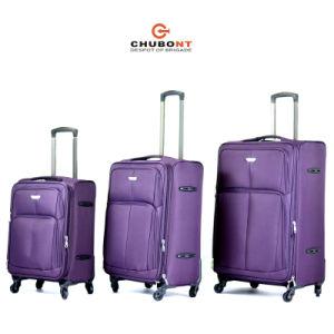 2016 New Design Waterproof Four Wheels Expandable Nylon Travel Suitcase pictures & photos