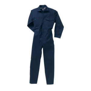 Factory 100% Cotton Dark Green Anti-Acid Coverall pictures & photos