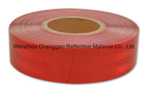 Clear Red Adhesive Micro Prismatic Diamond Grade Type Reflective Material pictures & photos