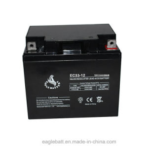 12V 33ah AGM Mf Sealed Lead Acid Rechargeable Battery pictures & photos