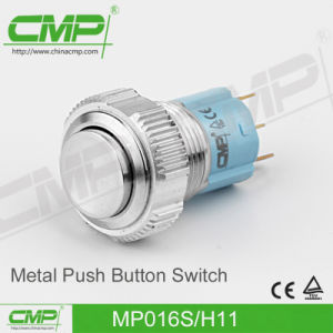 16mm Stainless Steel Flat Head Push Button Switch pictures & photos