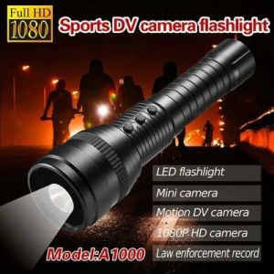 Mini Hidden A1000 1080P HD Motion LED Strong Light Sports Flashlight Video Camera pictures & photos
