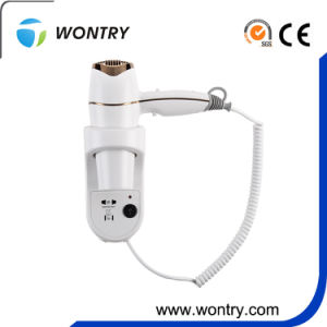 Hot Selling Hotel Wall Mounted Hair Dryer with Shaving Socket pictures & photos