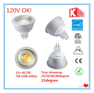 Kingliming 120V Dimmable MR16 COB LED Spotlights pictures & photos