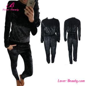 Elastic Waist Black Long Pant Romper Jumpsuit pictures & photos
