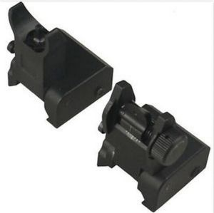 Premium Defense Iron Sights Set Front & Rear Flip up Flattop A2 for Rifle pictures & photos