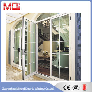 Double Aluminum Casement Door with Grille pictures & photos