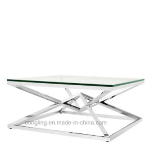 Special Design Clear Glass Square Coffee Table