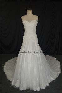 Sweetheart Neckline Long Train Europe Style Made in China Dress pictures & photos