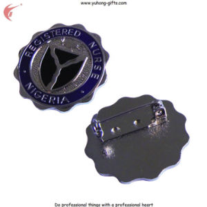 Die Cast Metal Badge with Butterfly Clasp for Garment (YH-MP001) pictures & photos