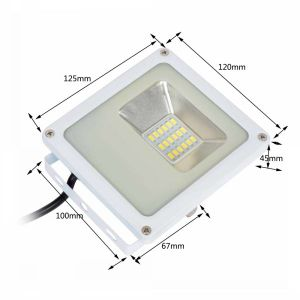2017 Factory Price High Quality 10W LED Floodlight with White Housing pictures & photos