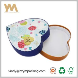 Rigid Paper Cardboard Heart Shape Packing Gift Box for Cosmetic pictures & photos