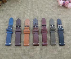 Handmade Genuine Leather Wrist Watch Strap with Gold Buckle-Kz1293