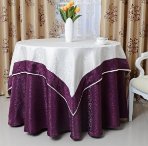 New Table Cloth in Round Shape for Hotel Restaurant (DPF107108) pictures & photos