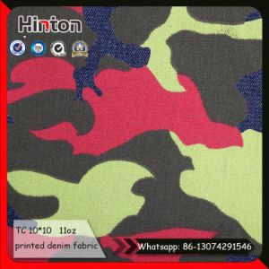 11oz Non Stretch Camouflage Printed Denim Fabric pictures & photos