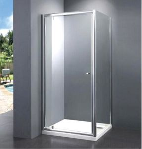 Bathroom Best Price Economy 4/5mm Pivot Door Shower Enclosure with Side Panel pictures & photos
