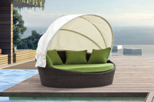 Romantic Outdoor Furniture Sun Loungers Wicker Daybed pictures & photos