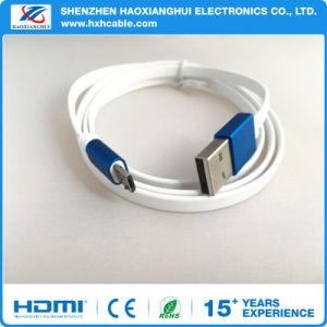 Wholesale Flat Metal Shell Micro USB Charging Cable for Android pictures & photos
