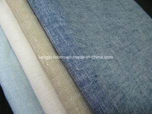 Cotton Linen Yarn Dyed Chambery for Shirts Fabric pictures & photos