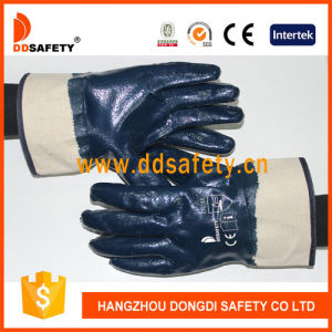 Ddsafety 2017 Blue Nitrile Fully Dipped Work Glove pictures & photos