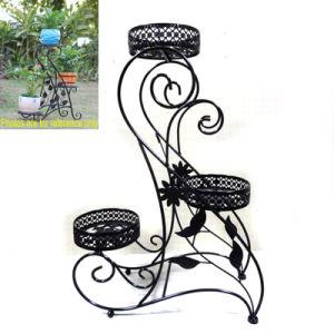 Functional Ground Decoration Multiple Garden Metal Flowerpot Rack Craft pictures & photos