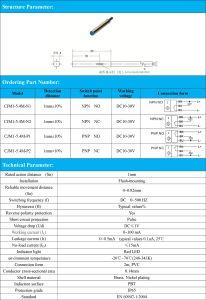 Flush PNP Nc 1mm Sensing Distance M5.4 Inductive Proximity Sensor Switch pictures & photos