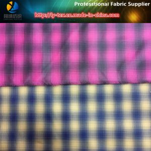 Polyester Cationic Check Fabric for Lining, Two-Tone Check (TN3028) pictures & photos
