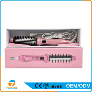 2 in 1 Hair Straightener/Curler Automatic Anti-Scalding Electric Hair Curling Brush pictures & photos