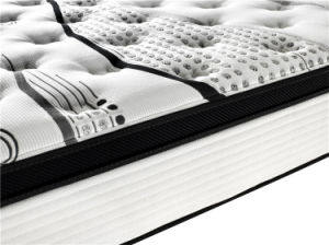 High Quality Pillow Topper Pocket Spring Mattress with Latex pictures & photos