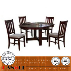Cherry Aaron Dining Room Set with 4 Dining Chairs Wooden Furniture pictures & photos