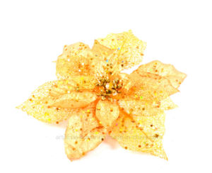 Clourful Glitter Artificial Flowers for Christmas Decoration