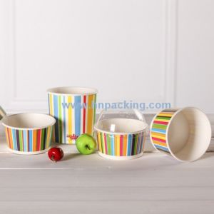Ice Cream Paper Cups with Paper Dome Lids and Spoon pictures & photos