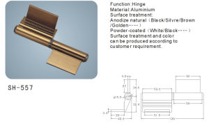 Aluminium Hinge for Doors and Windows (SH-557) pictures & photos
