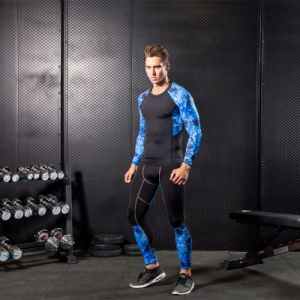 Man′s Compression Gym Camouflage Running Fitness Sportswear pictures & photos