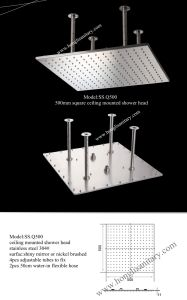 Rainsky Ceiling Mounted Stainless Steel Shower Heads pictures & photos
