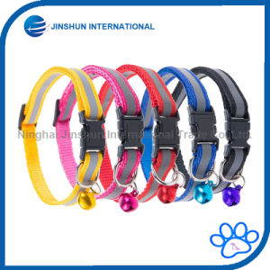 6 Colors Adjustable Dog Cat Collar with Bell Nylon Strap Reflective pictures & photos