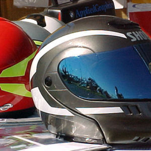Custom Printed Oval Shape Reflective Hat Decals pictures & photos