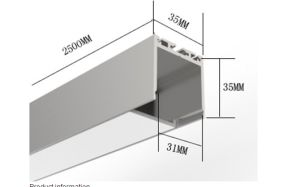 P/N3535 LED Linear System Aluminum Profile Light, Extrusion Channel Diffuser pictures & photos