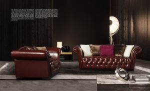 Leather Chesterfield Furniture Chesterfield Sofa pictures & photos