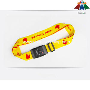 "High-Quality Polyester 2"" Solid Red Color Printed Luggage Strap with Plastic Buckle pictures & photos"