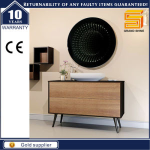 Cutomized Black Lacquer Melamine Wooden Wall Mounted Bathroom Cabinet pictures & photos