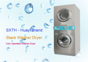 Coin Operated Stack Washer Dryer Commercial Laundry Machine for Self Laundry Shop pictures & photos