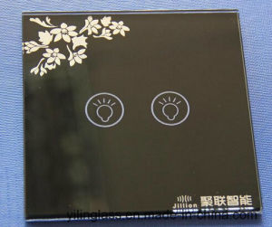 Tempered and Pattern Printed Glass Switch Touch Panel pictures & photos