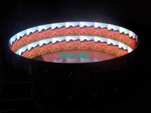 Indoor P6 Curved LED Display Cylinder Screen with Customized Diameter Sizes (2X2m, 6X2m) pictures & photos