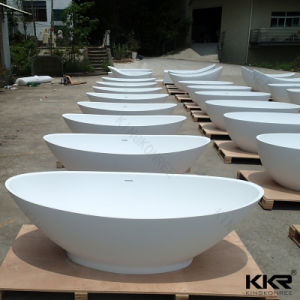 Solid Surface Stone Modern Customized Bathtub for Hotel pictures & photos