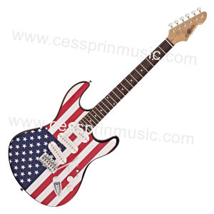 Wholesales /Stickers Electric Guitar/ Lp Guitar /Guitar Supplier/ Manufacturer/Cessprin Music (ST603) / The National Flag Guitar pictures & photos