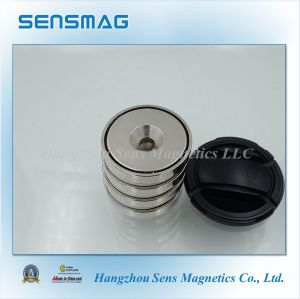 N40~N55 Customized Manufacture Permanent NdFeB Pot Magnet pictures & photos
